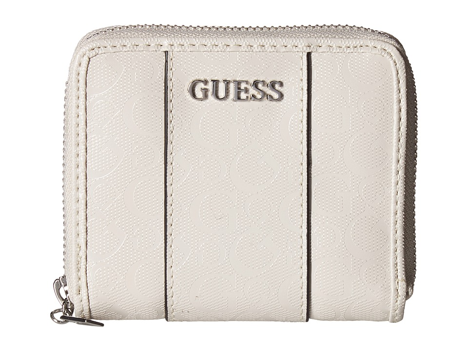 GUESS - Ware Small Zip Around (Stone) Handbags