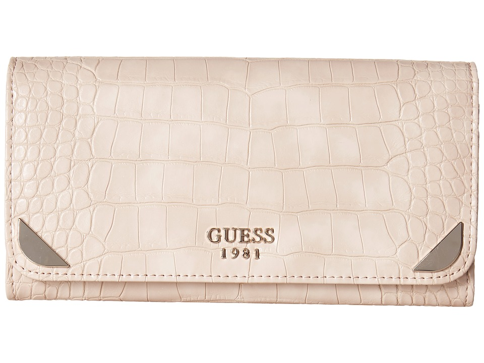 GUESS - Trylee Large Flap Organizer (Cameo) Handbags