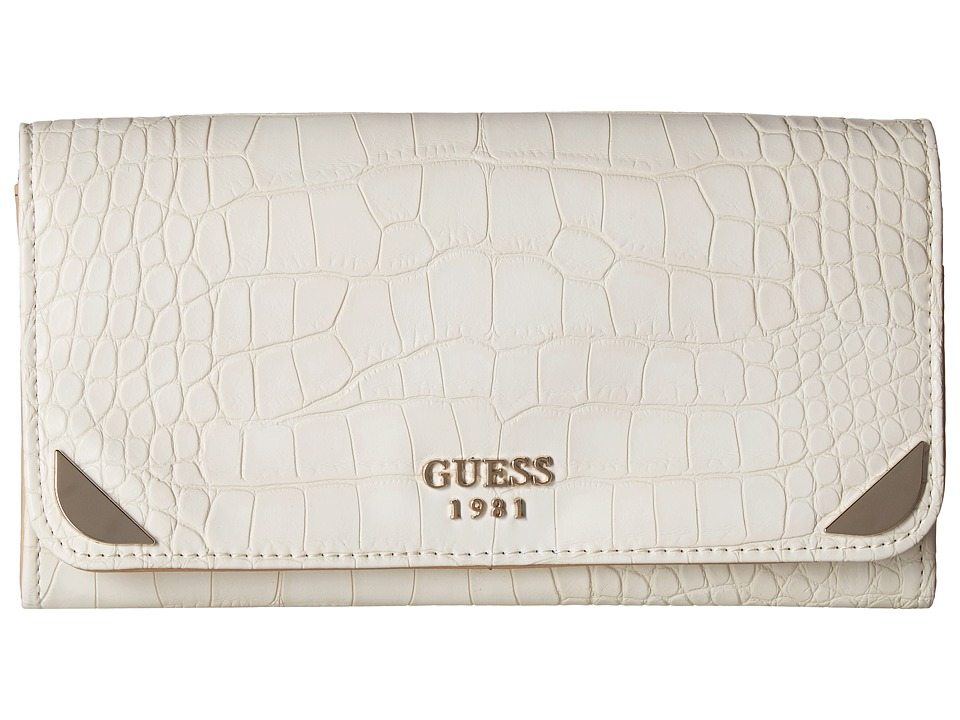 GUESS - Trylee Large Flap Organizer (Stone) Handbags