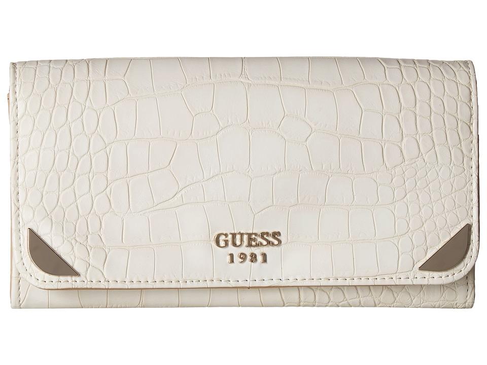 GUESS - Trylee Large Flap Organizer (Stone) Handbags