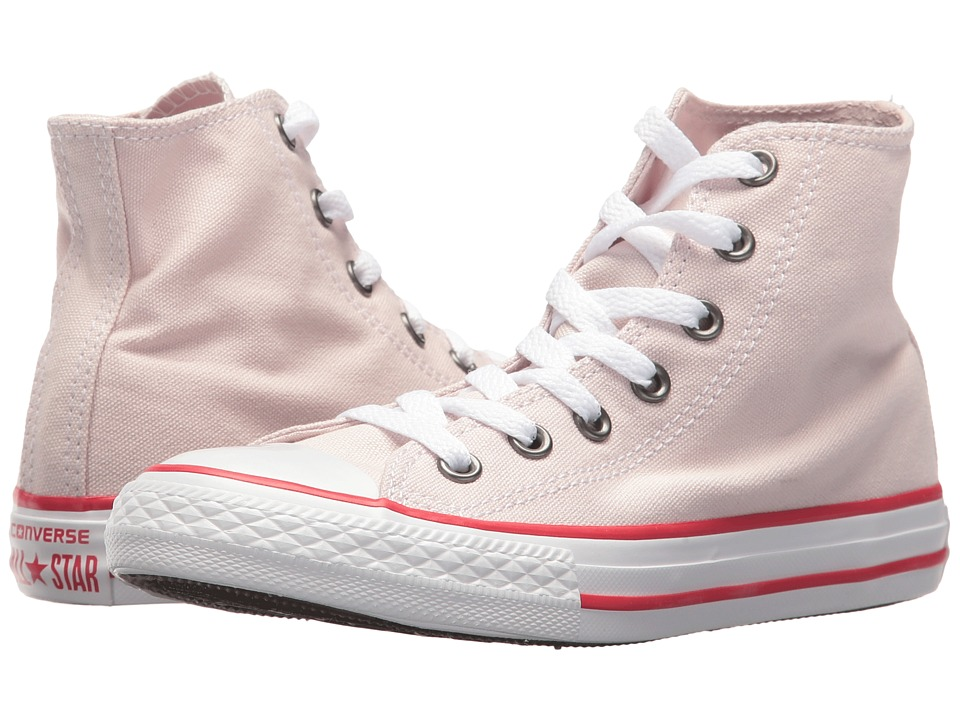 Converse Kids Chuck Taylor All Star Hi (Little Kid) (Barely Rose/Enamel Red/White) Girl