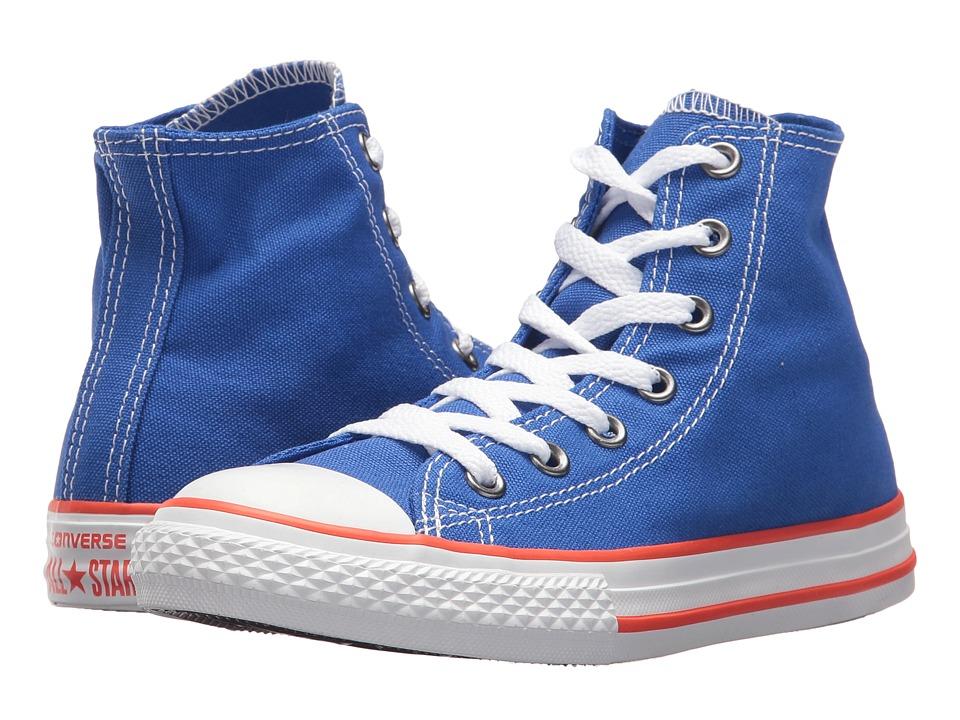 Converse Kids Chuck Taylor(r) All Star(r) Core Hi (Little Kid) (Hyper Royal/Bright Poppy/White) Kids Shoes
