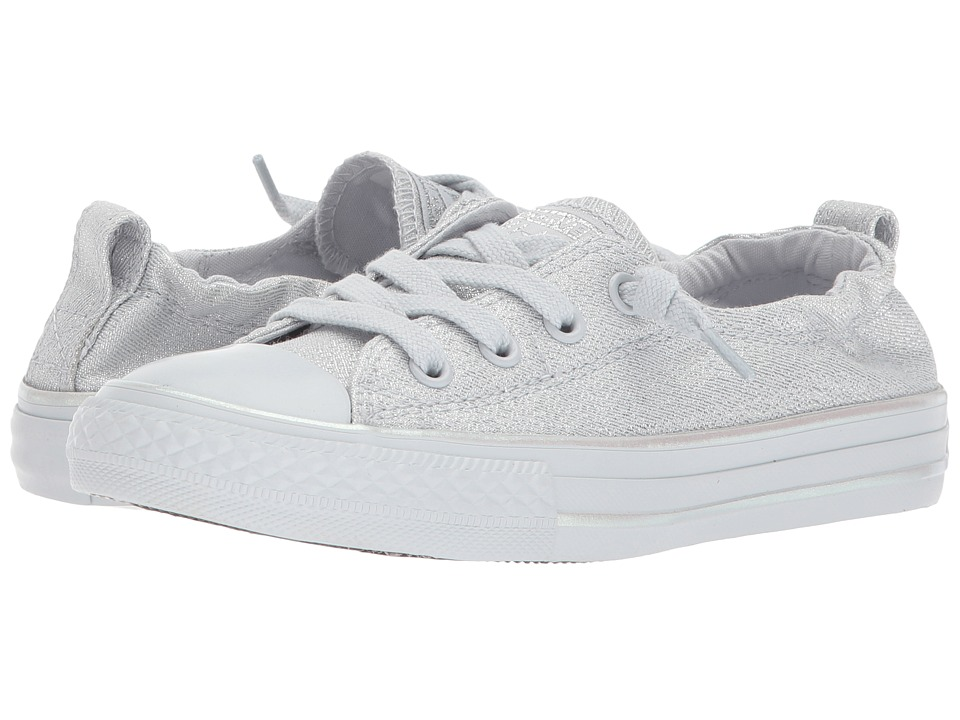 Converse Kids Chuck Taylor All Star Shoreline Mono Shine Ox (Little Kid/Big Kid) (Pure Platinum/Pure Platinum) Girls Shoes