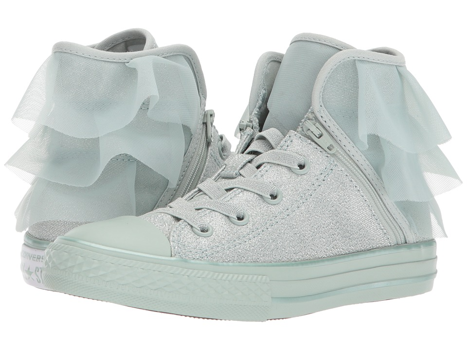 Converse Kids Chuck Taylor All Star Block Party Hi (Little Kid/Big Kid) (Dried Bamboo/Dried Bamboo/Dried Bamboo) Girl