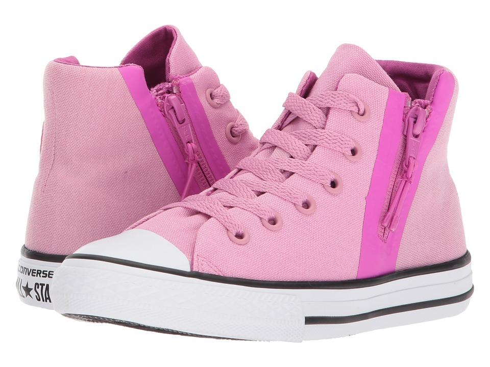 Converse Kids Chuck Taylor All Star Sport Zip Hi (Little Kid/Big Kid) (Light Orchid/Hyper Magenta/White) Girls Shoes
