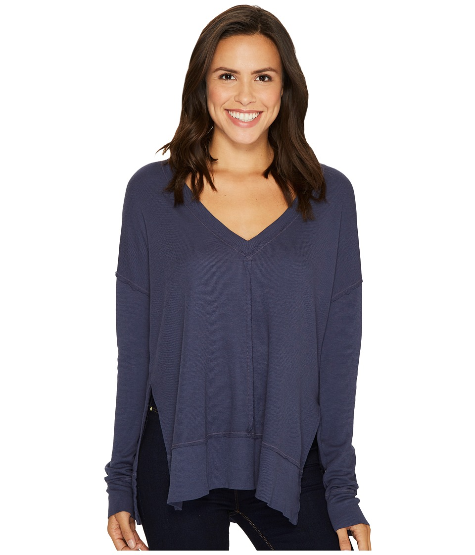 LAmade - Conway Thermal (Denim) Women's Long Sleeve Pullover