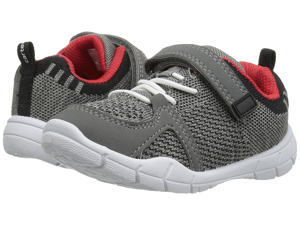 Carters - Pacer-B (Toddler/Little Kid) (Grey/Black) Boy's Shoes
