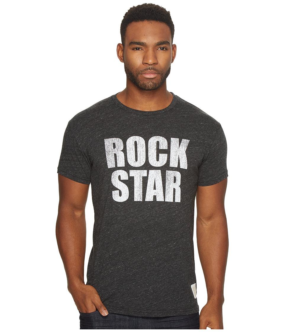 The Original Retro Brand - Short Sleeve Tri-Blend Rock Star Tee (Streaky Black) Men's T Shirt
