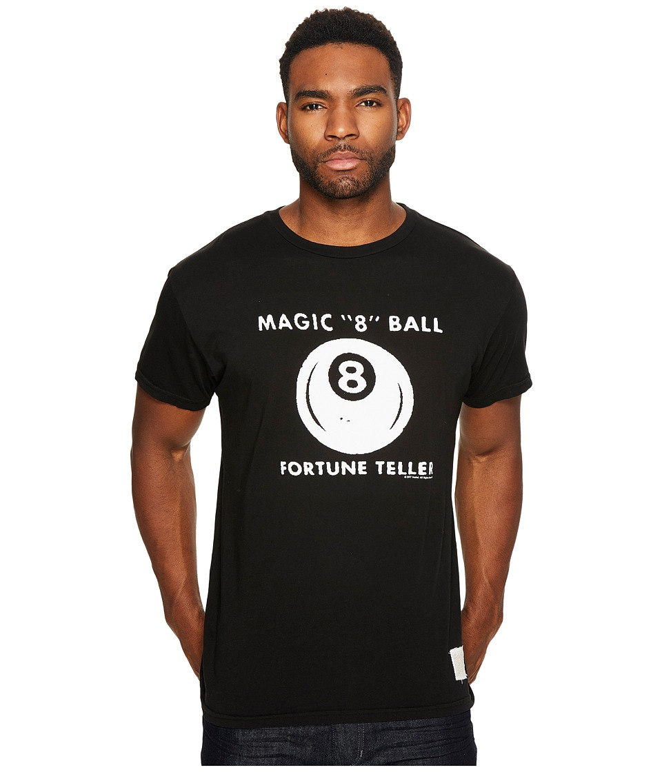 The Original Retro Brand - Magic 8 Ball Short Sleeve Vintage Cotton Tee (Black) Men's T Shirt