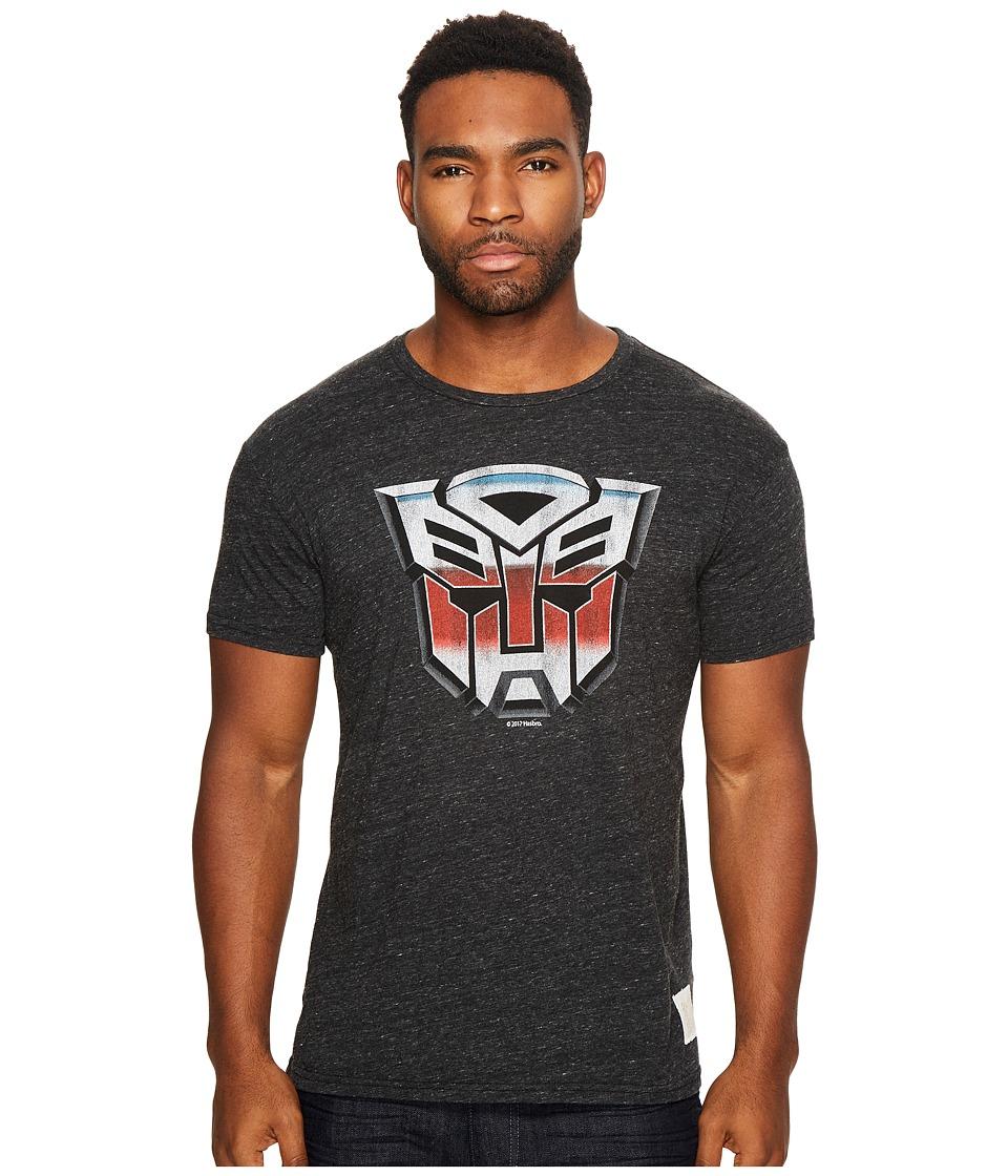 The Original Retro Brand - Transformer Short Sleeve Tri-Blend Tee (Streaky Black) Men's T Shirt