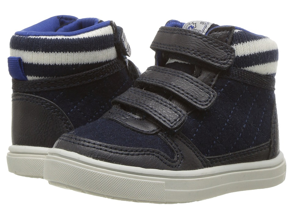 Carters - Terry 2 (Toddler/Little Kid) (Navy) Boy's Shoes
