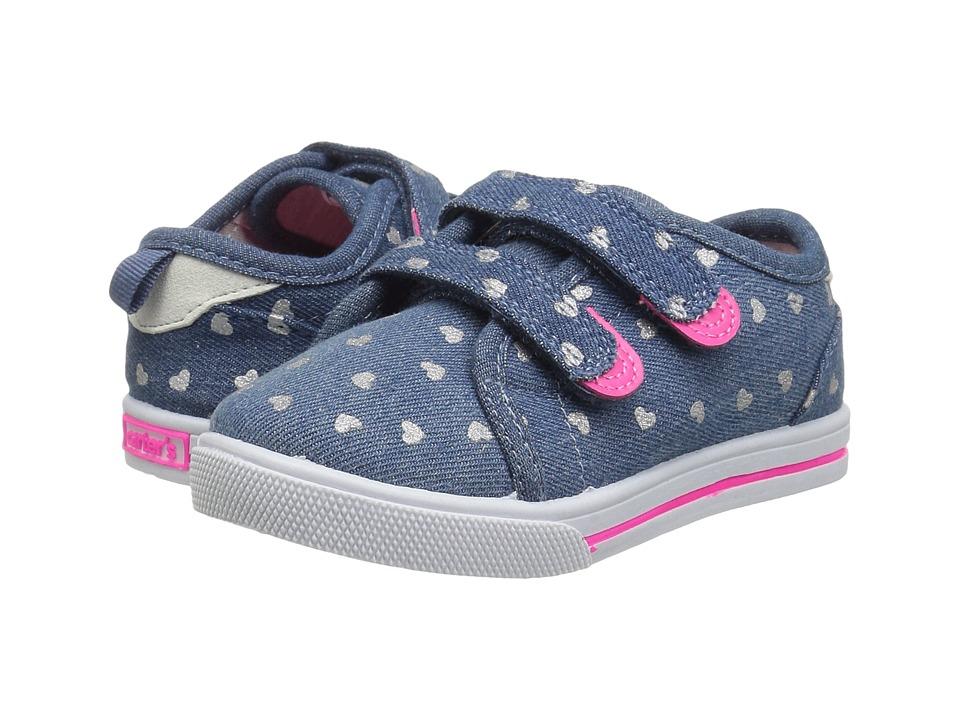 Carters - Nikki 2 (Toddler/Little Kid) (Blue) Girl's Shoes