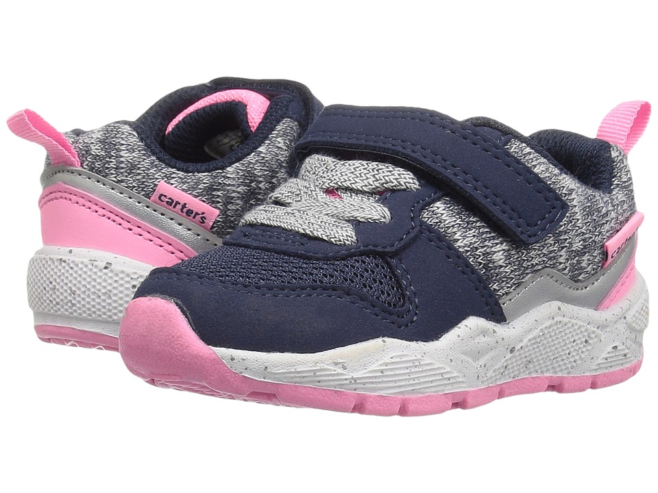 Carters - Hog-G (Toddler/Little Kid) (Navy/Pink) Girl's Shoes