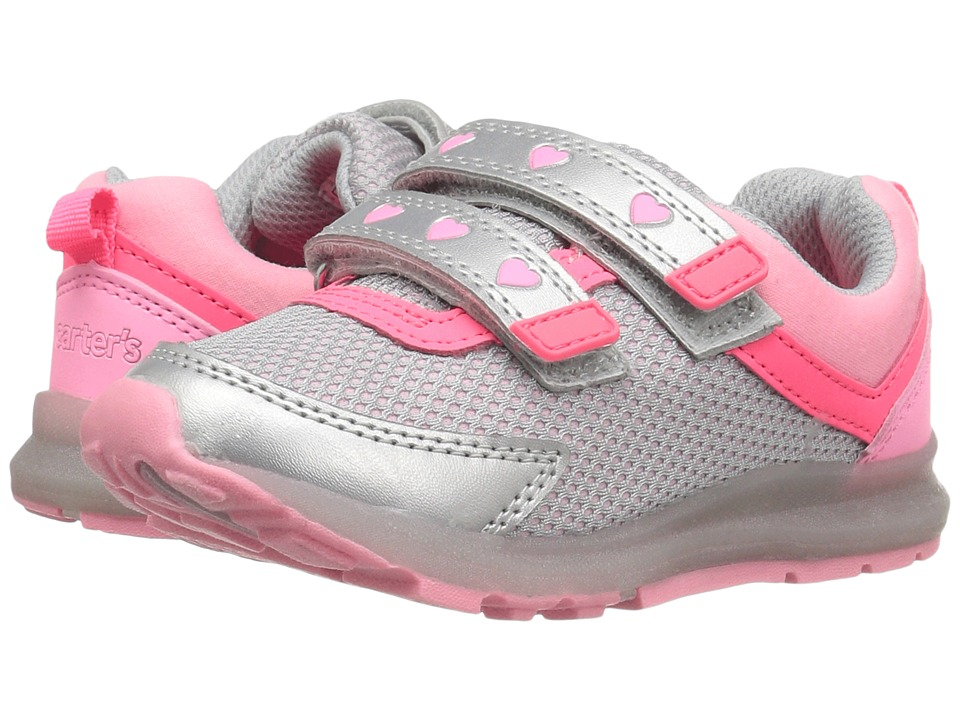 Carters - Record-G (Toddler/Little Kid) (Silver/Pink) Girl's Shoes