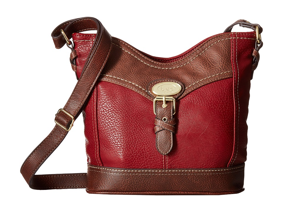 b.o.c. - Danford Crossbody Power Bank (Burgundy/Chocolate) Cross Body Handbags