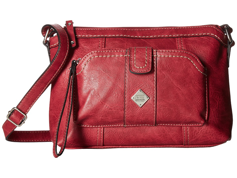b.o.c. - Winton Crossbody with Removable Power Bank (Burgundy) Cross Body Handbags