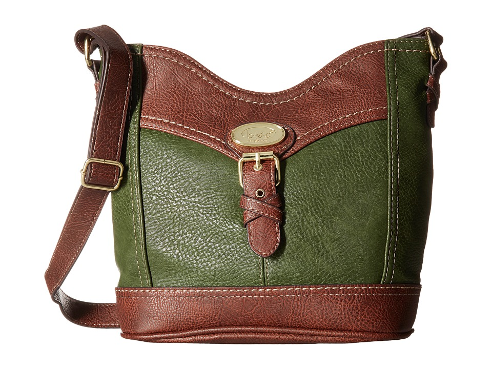 b.o.c. - Danford Crossbody Power Bank (Olive/Chocolate) Cross Body Handbags