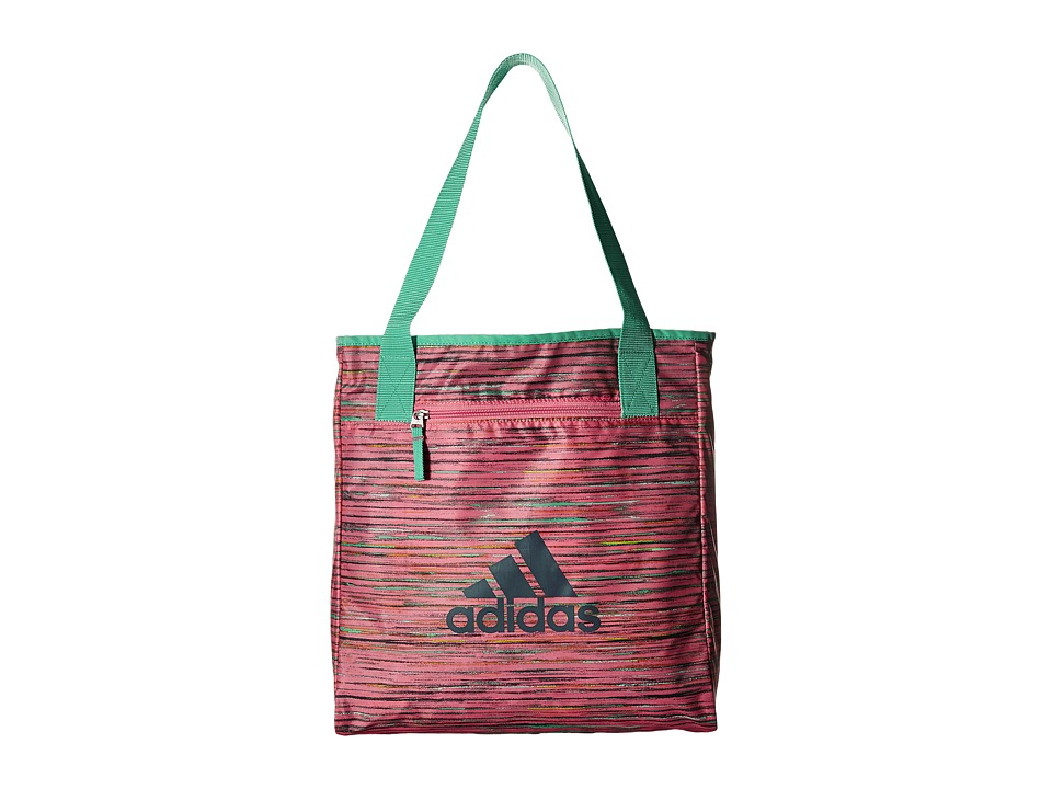 adidas - Studio II Tote (Visionary Chalk Pink/Deepest Space/Chalk Pink/Hi-Res Green) Tote Handbags