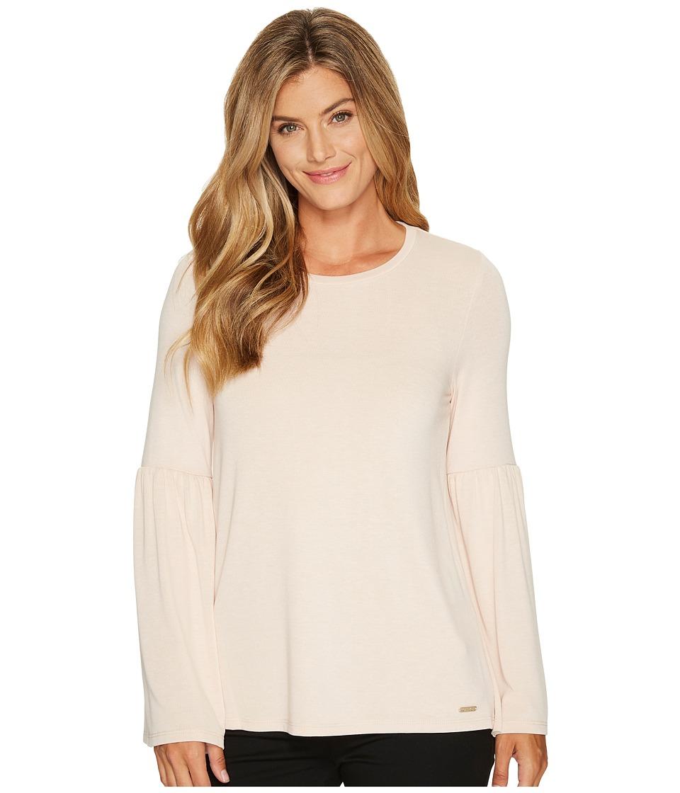 Calvin Klein Bell Sleeve Top (Blush) Women