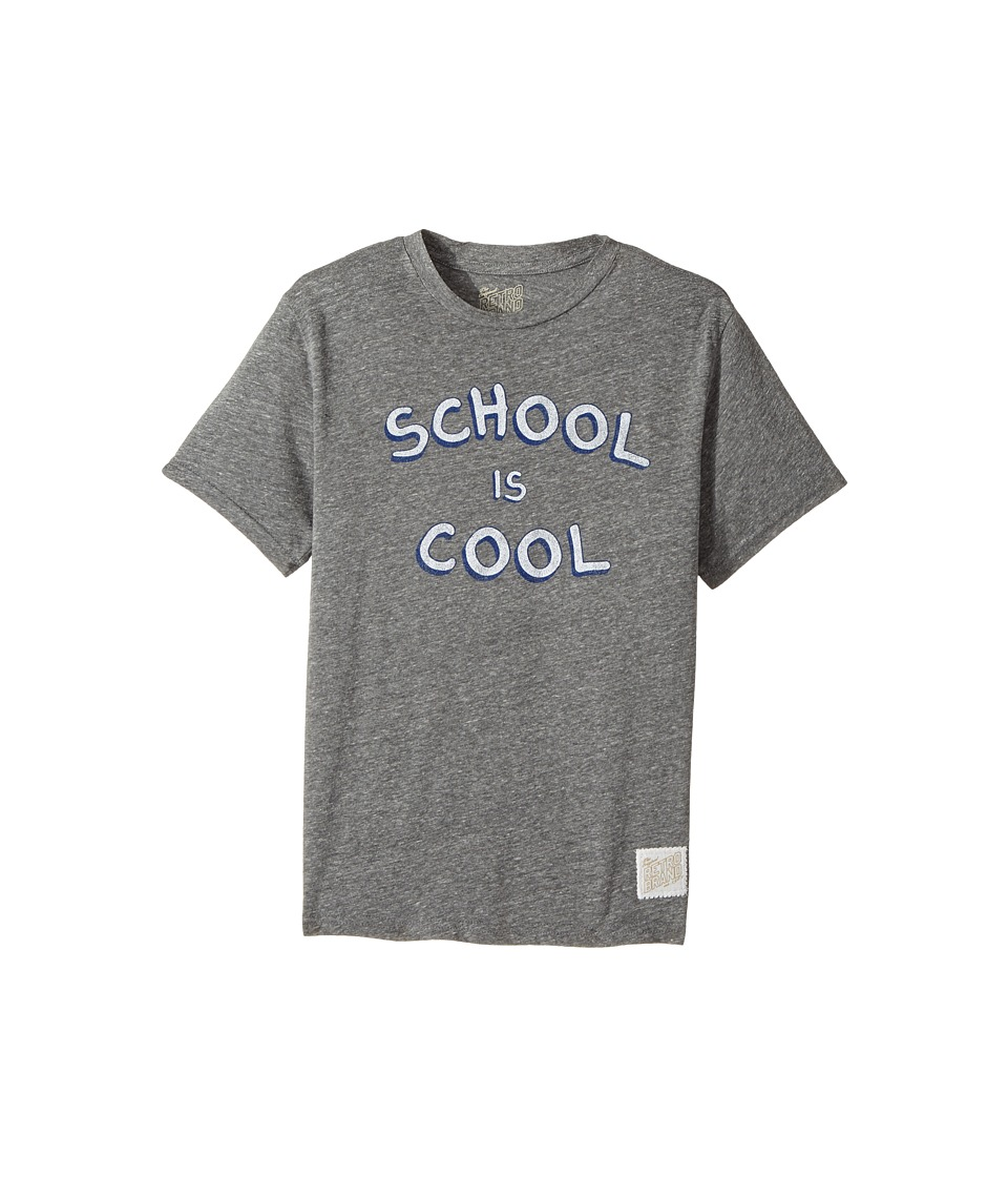 The Original Retro Brand Kids - School Is Cool Tri-Blend Short Sleeve Tee (Big Kids) (Streaky Grey) Boy's T Shirt