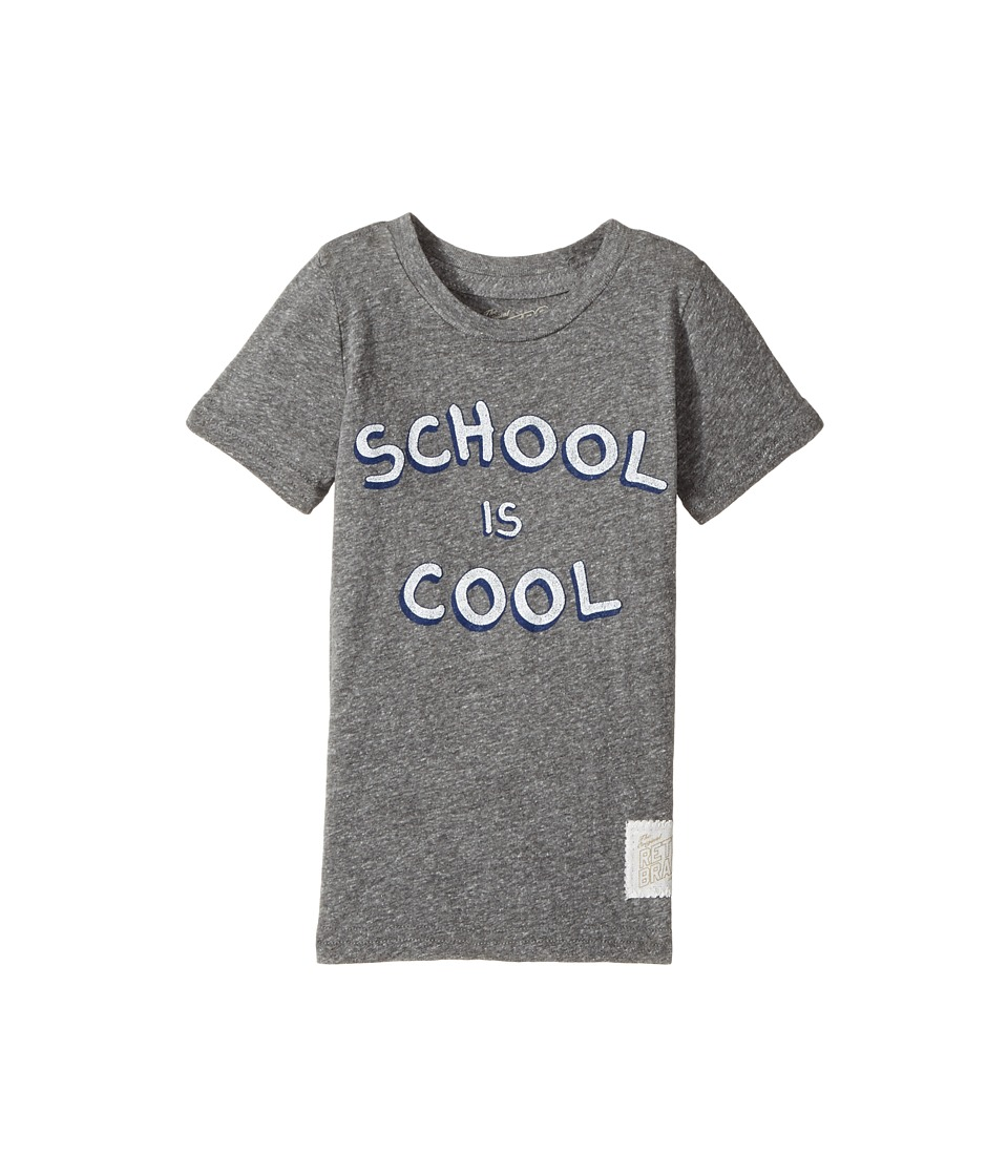The Original Retro Brand Kids - School Is Cool Tri-Blend Short Sleeve Tee (Toddler) (Streaky Grey) Boy's T Shirt