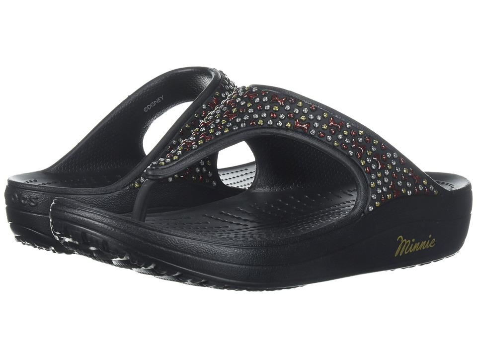 Crocs Crocs Sloane Minnie Diamante Flip (Black) Women