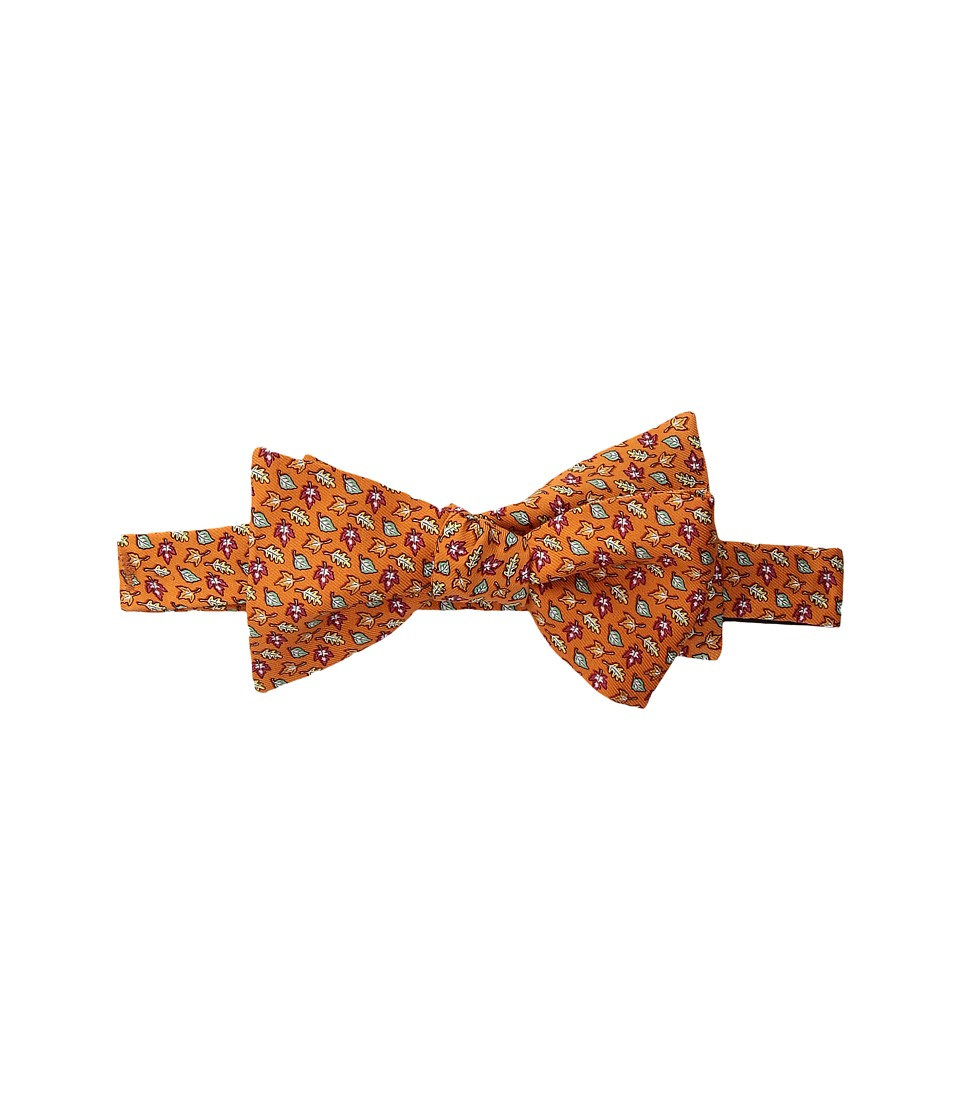Vineyard Vines - Fall Leaves Printed Bow Tie (Orange) Ties