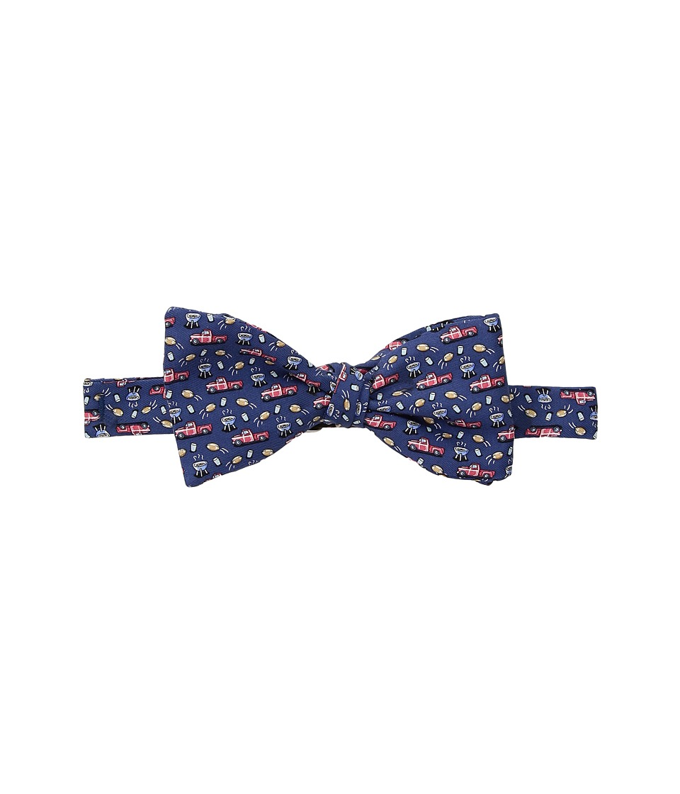 Vineyard Vines - Tailgate Printed Bow Tie (Vineyard Navy) Ties