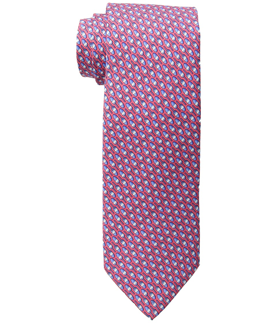 Vineyard Vines - Lobster Buoys Printed Tie (Raspberry) Ties