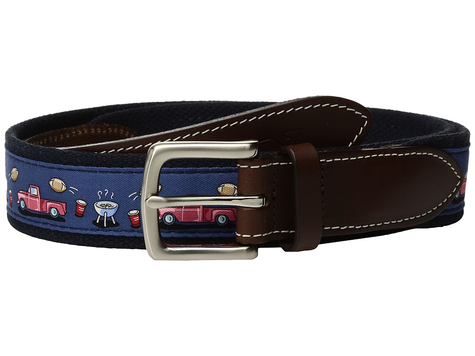 Vineyard Vines - Tailgate Canvas Club Belt (Moonshine) Men's Belts