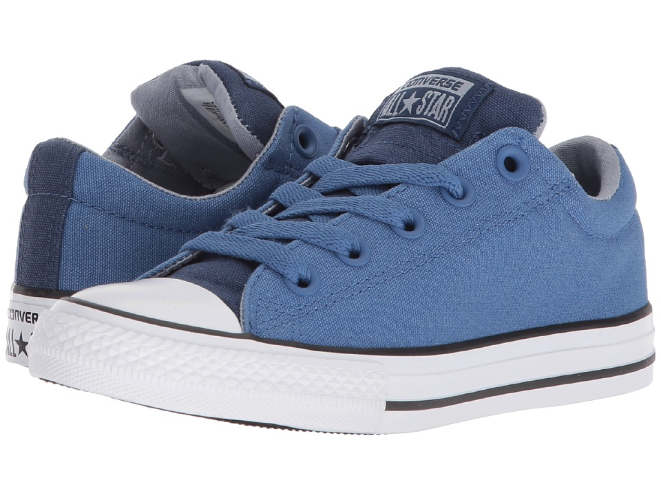 Converse Kids Chuck Taylor All Star Street Slip (Little Kid/Big Kid) (Navy/Nightfall Blue/White) Boy
