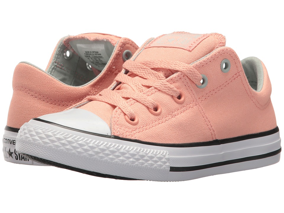 Converse Kids Chuck Taylor All Star Madison Ox (Little Kid/Big Kid) (Pale Coral/Dried Bamboo/White) Girl