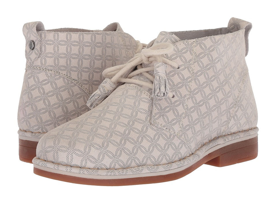 Hush Puppies Cyra Catelyn Leather (Black/White Print Leather) Women