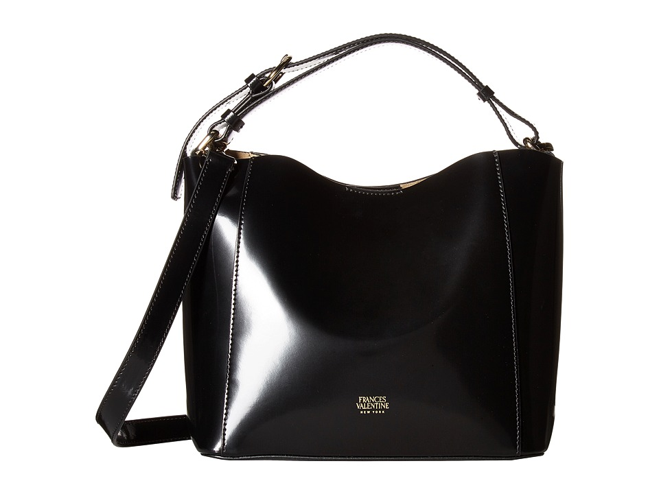 Frances Valentine - Small Hobo Spazzolato Leather (Black) Hobo Handbags