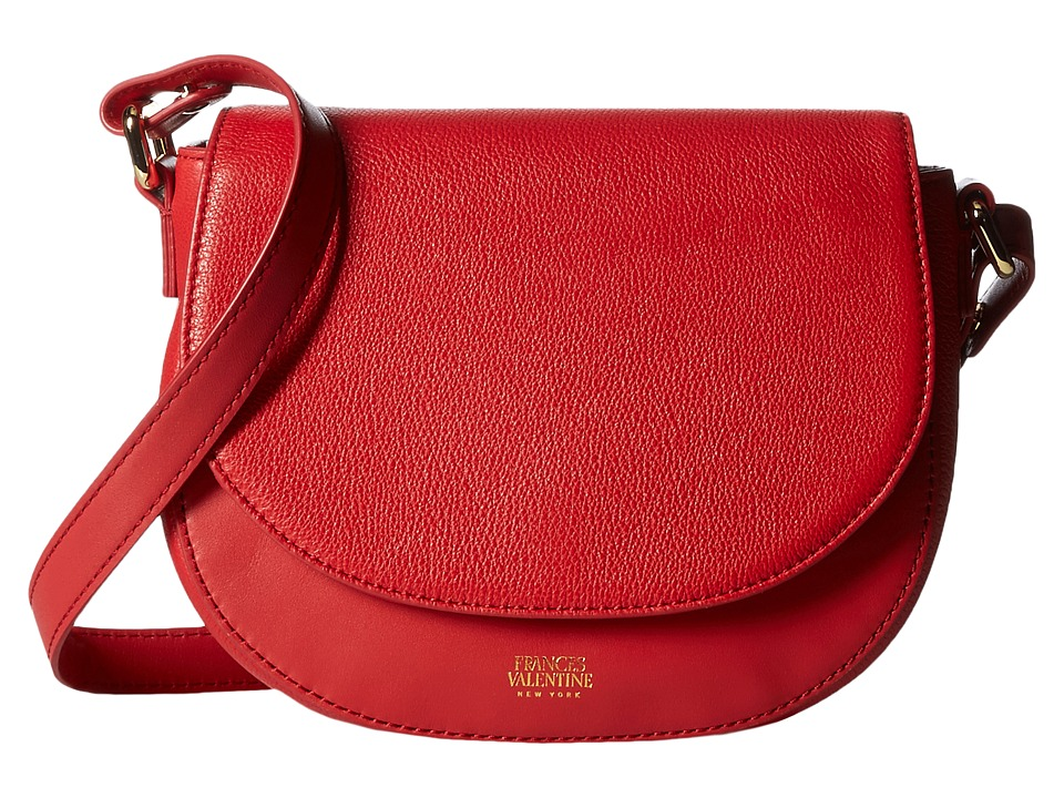 Frances Valentine - Mini Shoulder Satchel Tumbled Leather (Red) Satchel Handbags