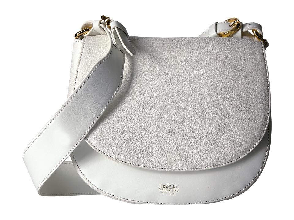 Frances Valentine - Small Shoulder Satchel Tumbled Leather (White) Satchel Handbags