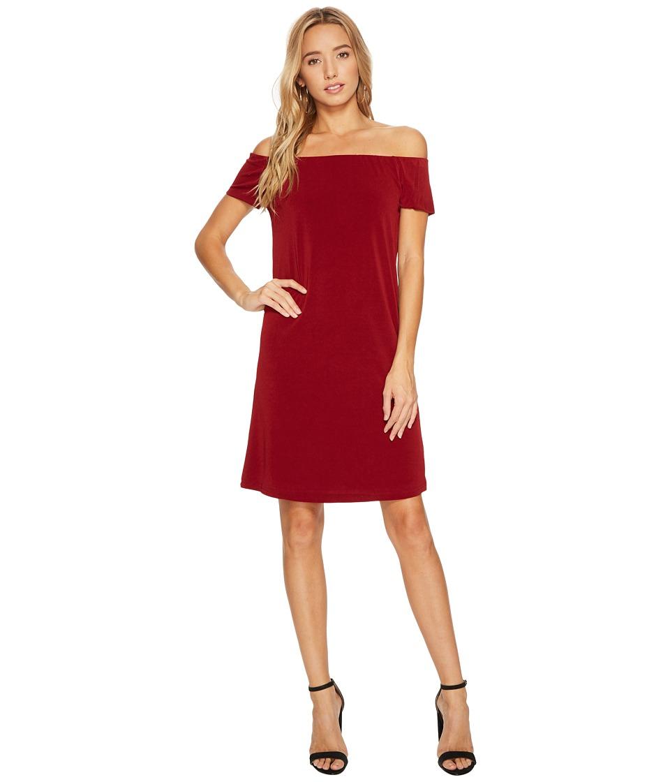 Bishop + Young Bare Shoulder Dress (Burgundy) Women