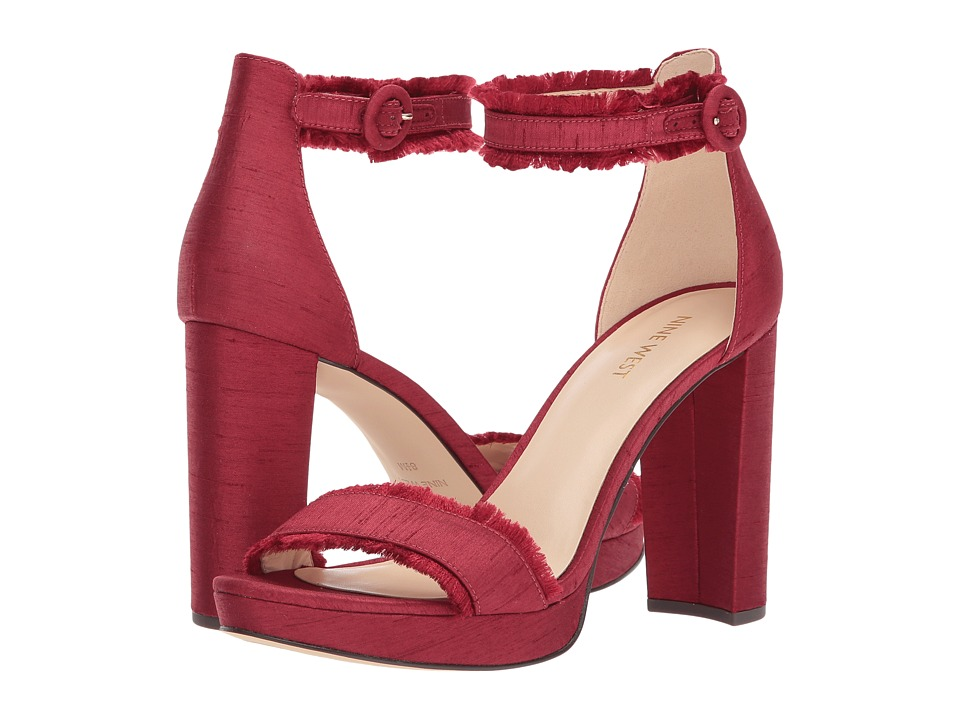 Nine West Daranita Platform Heel Sandal (Red Fabric) High Heels