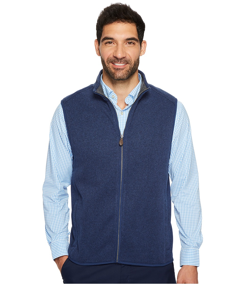 Vineyard Vines Dressy Sweater Fleece Vest (Deep Bay) Men