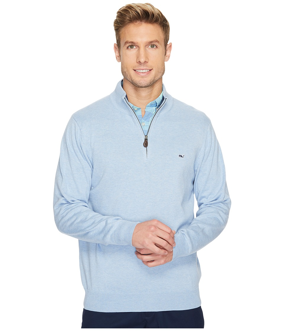 Vineyard Vines Cotton 1/4 Zip Sweater (Jake Blue) Men