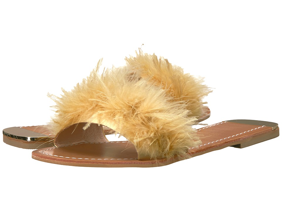 Chinese Laundry - Zoey (Yellow Marabou Feather) Women's Dress Sandals
