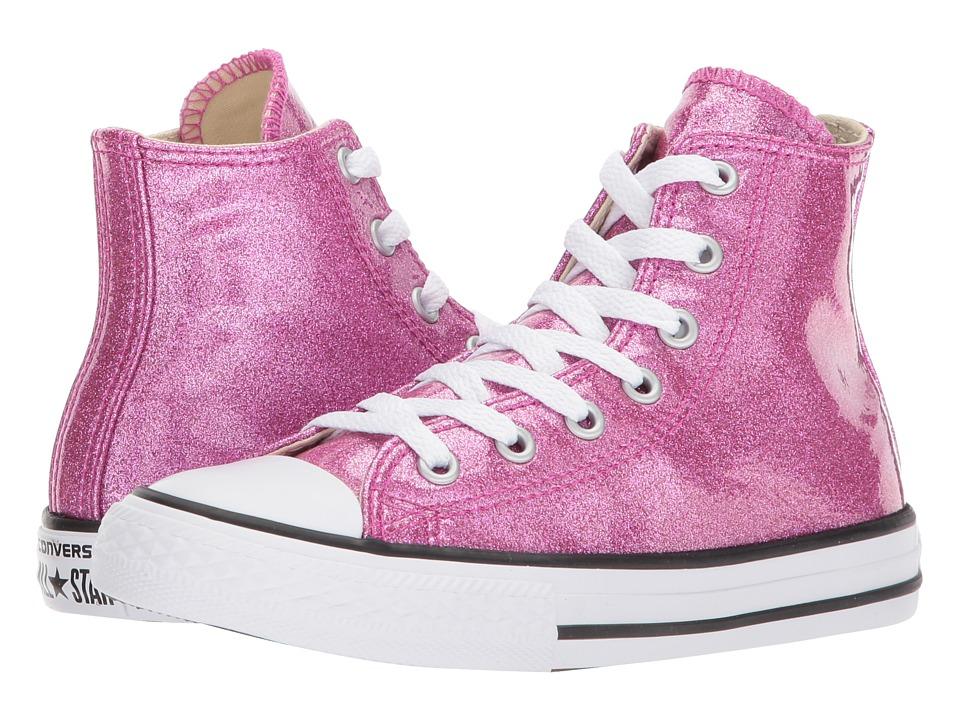 Converse Kids Chuck Taylor All Star Hi (Little Kid/Big Kid) (Bright Violet/Natural/White) Girl