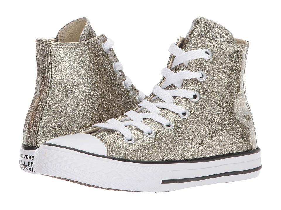 Converse Kids Chuck Taylor All Star Hi (Little Kid/Big Kid) (Gold/Natural/White) Girl