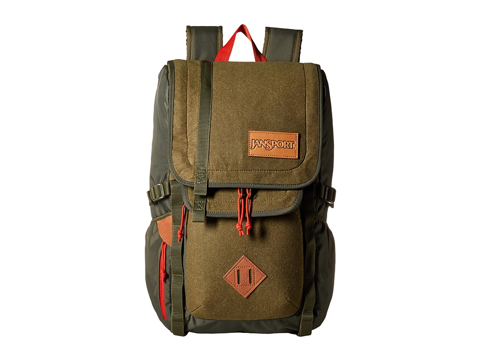 JanSport - Hatchet Special Edition (Army Green Felt) Backpack Bags
