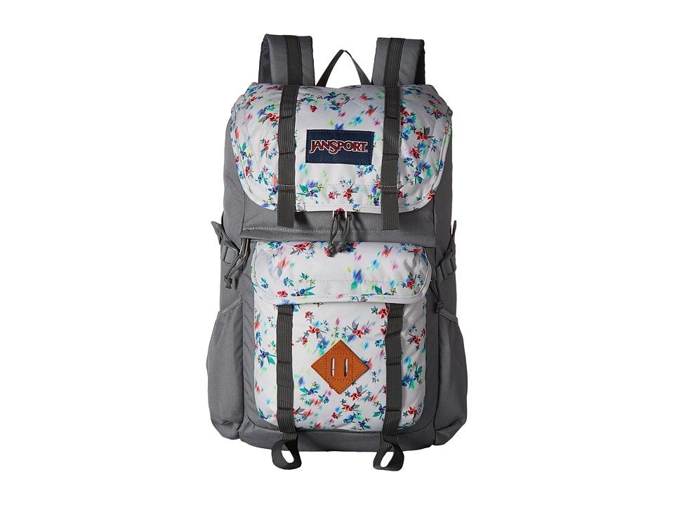 JanSport Javelina (Multi Grey Floral Haze) Backpack Bags