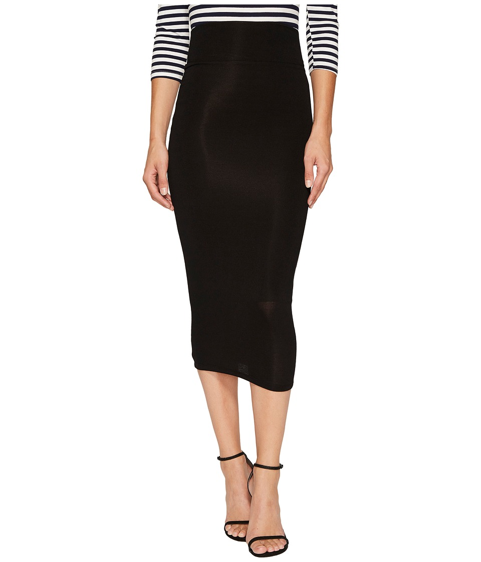 Unique Vintage - High-Waist Knit Pencil Skirt (Black) Women's Skirt