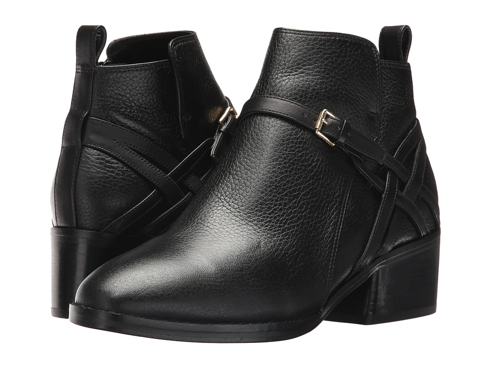 Cole Haan Pearlie Bootie (Black Leather) Women