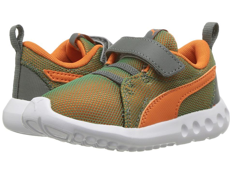 Puma Kids Carson 2 Breathe V (Toddler) (Castor Grey/Vibrant Orange) Boys Shoes