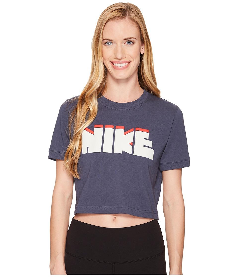 Nike Sportswear Archive Crop Tee (Thunder Blue) Women