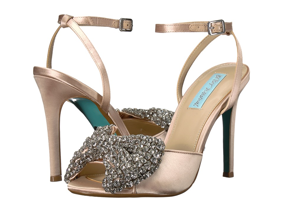 Blue by Betsey Johnson Heidi (Champagne Satin) High Heels
